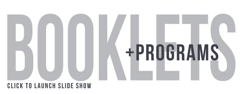 Booklets+Programs
